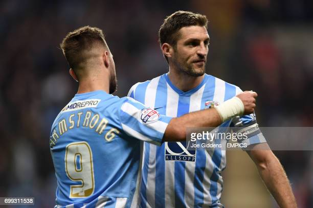 Coventry City's Adam Armstrong and Sam Ricketts