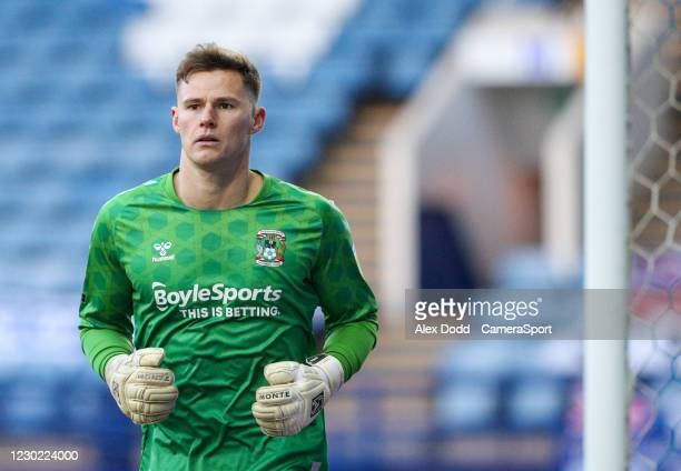 Coventry City's Ben Wilson during the Sky Bet Championship match between Sheffield Wednesday and Coventry City at Hillsborough Stadium on December...