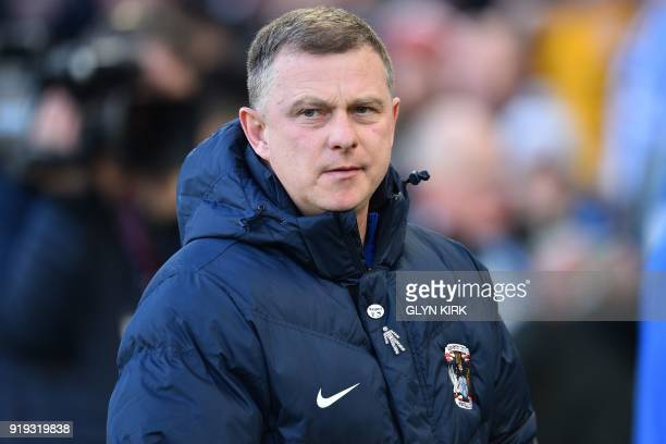 Coventry City's English manager Mark Robins arrives for the English FA Cup fifth round football match between Brighton and Hove Albion and Coventry...
