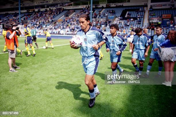 Coventry City's Moustapha Hadji jogs out at Highfield Road for his debut
