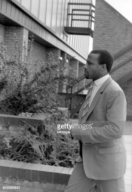 Coventry City's new signing Cyrille Regis arrives at Ryton Connexion Club 10th October 1984