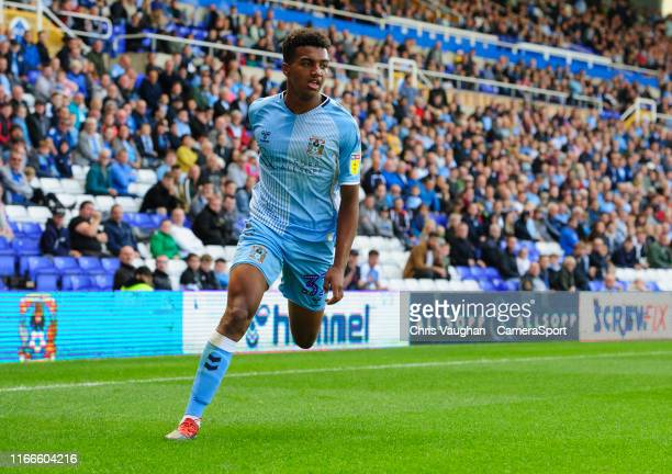 Coventry City's Sam McCallum during the Sky Bet League One match between Coventry City and Blackpool at St Andrews on September 7 2019 in Birmingham...