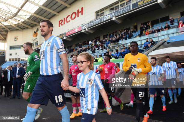Coventry City's Sam Ricketts leads out his team