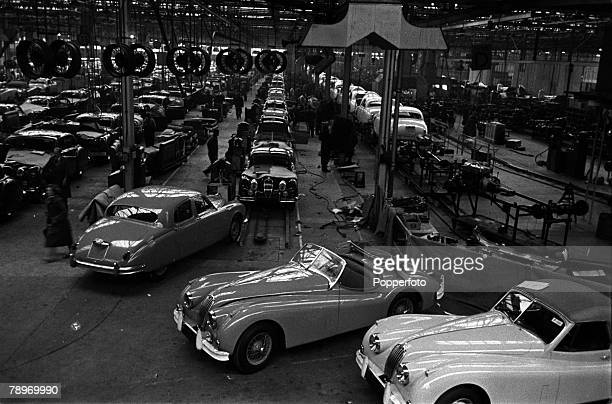 Coventry England A general view of the Jaguar car factory