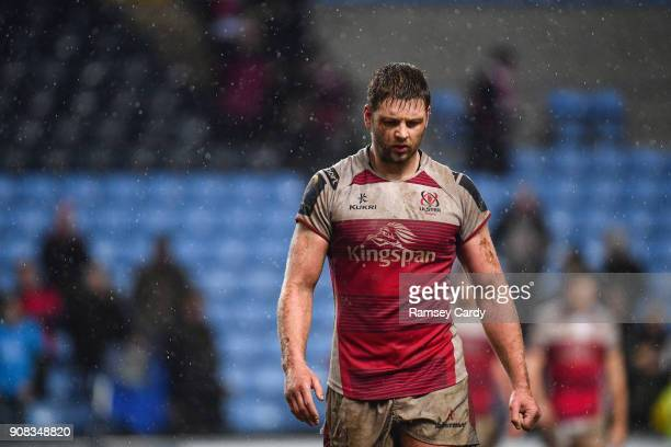 Coventry United Kingdom 21 January 2018 A dejected Iain Henderson of Ulster after the European Rugby Champions Cup Pool 1 Round 6 match between Wasps...