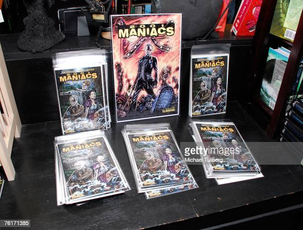 Cover art for the new graphic novel '2001 Maniacs' held at the Dark Delicacies bookstore on August 18 2007 in Burbank California