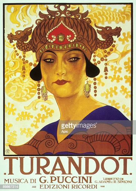 Cover by Anon of score of opera Turandot by GiacomoPuccini 1926