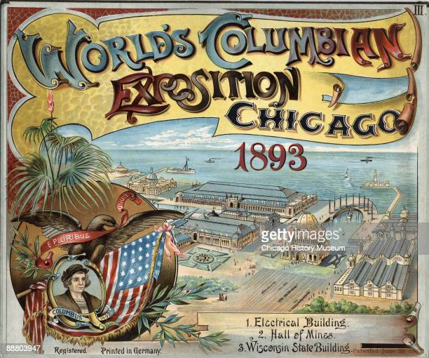 Cover for pop-up book detailing the 'World's Columbian Exposition', Chicago, IL, 1893.