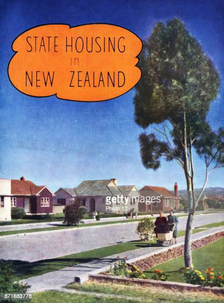 Cover of a brochure explaining social housing in New Zealand after World war Two 1948