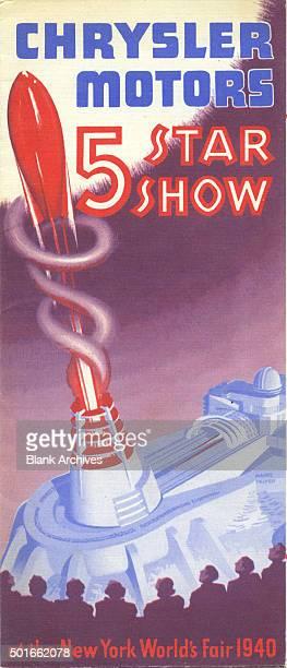 Cover of a brochure that advertises Chrysler Motors' '5 Star Show' at the New York World's Fair New York New York 1940