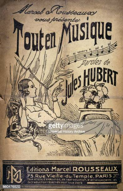 cover of a French 1930's Song book 'tout en musique' Jules Hubert Published by marcel Rousseaux