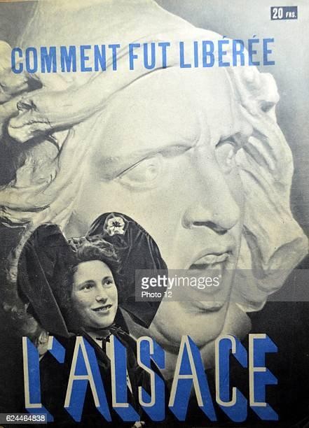 Cover of a local magazine celebrating the struggle for liberty in Alsace Lorraine at the end of world war Two