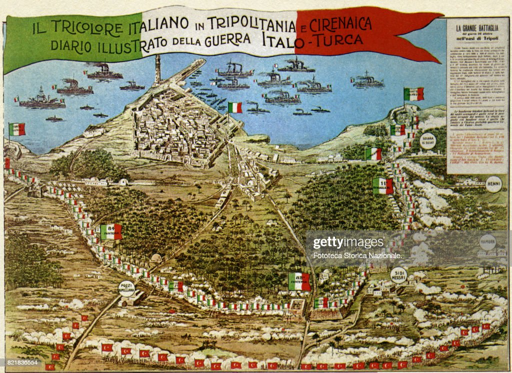 The battle of tripoli pictures getty images cover of an illustrated diary dedicated to the narrative of the war in libya italo publicscrutiny Images