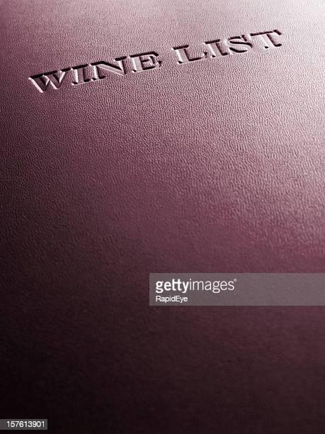 カバーの高級レストランのワインリスト