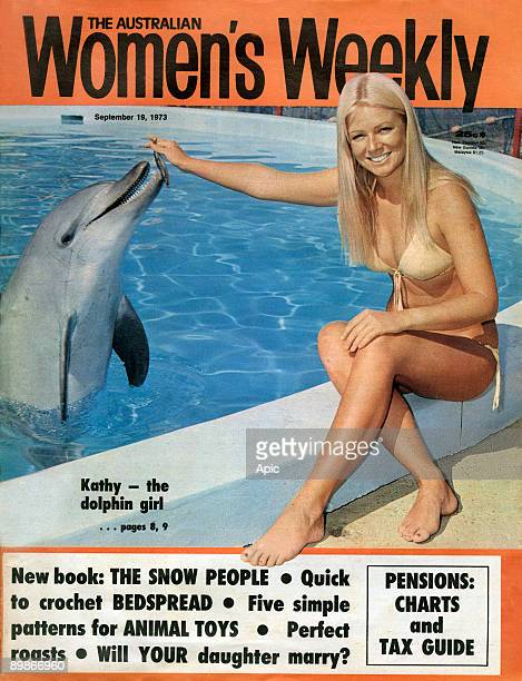 Cover of australian magazine The australian women's weekly september 19 1973 Kathy Troutt aqualung diving champion and beauty contest winner is back...
