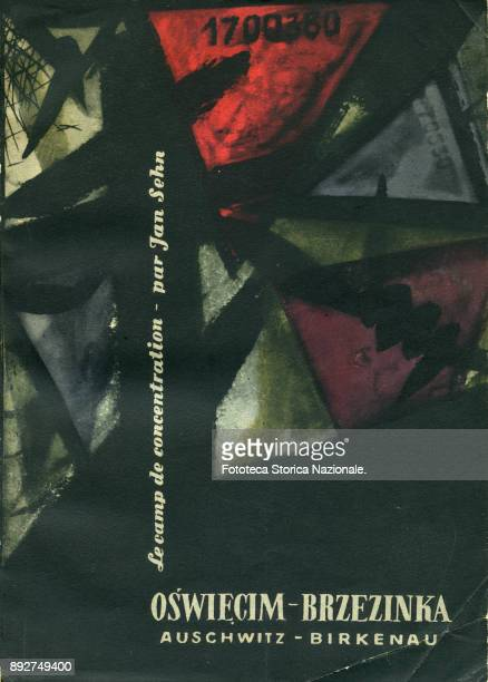 Cover of book by Jan Sehn 'Le Camp de concentration of AuschwitzBirkenau' published by Wydawnictwo Prawicze Warsaw 1957