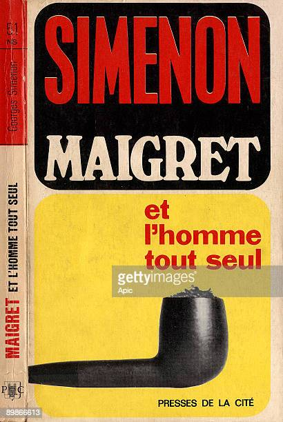 """Cover of book """"Maigret et l'homme tout seul"""" by Georges Simenon France"""