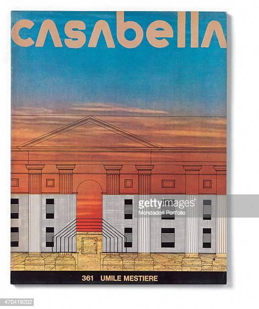 Cover of Casabella N 361 January 1972 20th Century graphic5 x 31 cm Italy Lombardy Milan Arnoldo Mondadori Editore Whole artwork view Ocher title on...