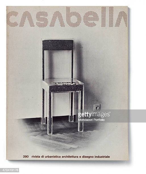 Cover of Casabella N 390 June 1974 20th Century graphic 31 x 245 cm Italy Lombardy Milan Arnoldo Mondadori Editore Whole artwork view Dot fancy...