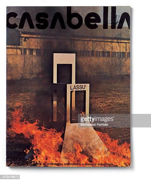 Cover of Casabella N 391 July 1974 20th Century graphic 31 x 245 cm Italy Lombardy Milan Arnoldo Mondadori Editore Whole artwork view Black headline...