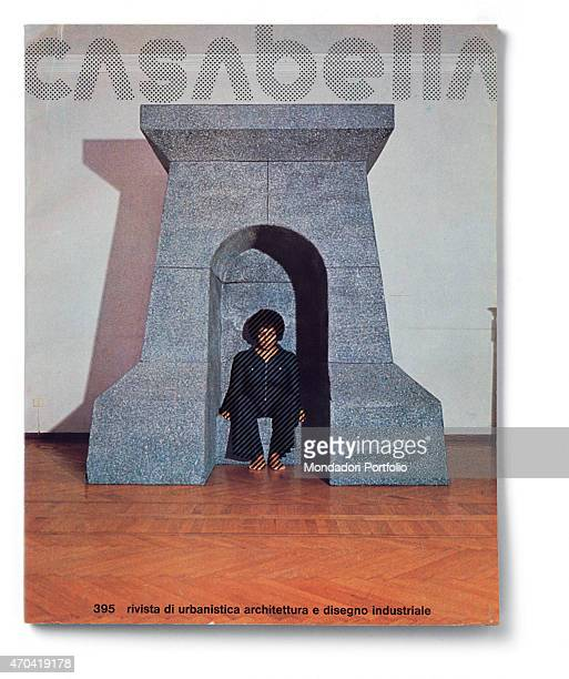 Cover of Casabella N 395 November 1974 20th Century graphic 31 x 245 cm Italy Lombardy Milan Arnoldo Mondadori Editore Whole artwork view Dot fancy...