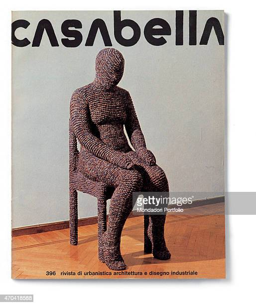 Cover of Casabella N 396 December 1974 20th Century graphic 31 x 245 cm Italy Lombardy Milan Arnoldo Mondadori Editore Whole artwork view Black...