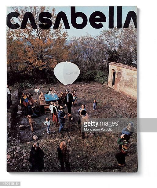 Cover of Casabella N 397 January 1975 20th Century graphic 31 x 245 cm Italy Lombardy Milan Arnoldo Mondadori Editore Whole artwork view Black...