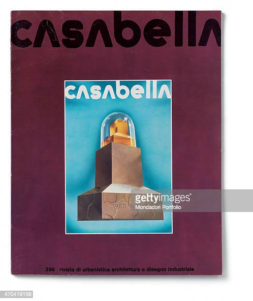 Cover of Casabella N 398 February 1975 20th Century graphic 31 x 245 cm Italy Lombardy Milan Arnoldo Mondadori Editore Whole artwork view Graphic by...