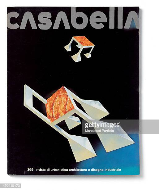 Cover of Casabella N 399 March 1975 20th Century graphic 31 x 245 cm Italy Lombardy Milan Arnoldo Mondadori Editore Whole artwork view Graphic by...