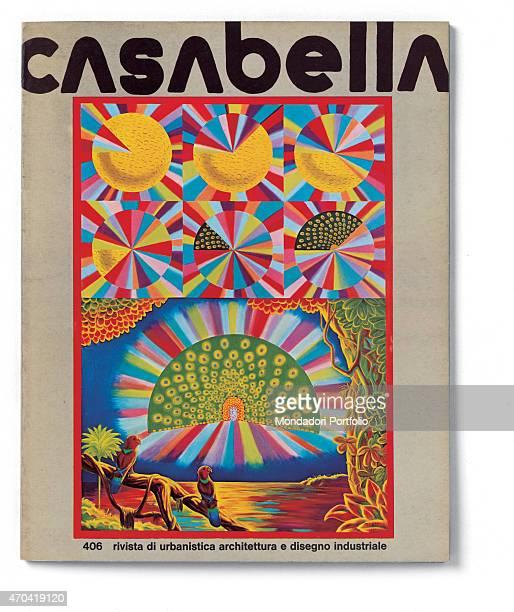 Cover of Casabella N 406 August 1975 20th Century graphic 31 x 245 cm Italy Lombardy Milan Arnoldo Mondadori Editore Whole artwork view Black...