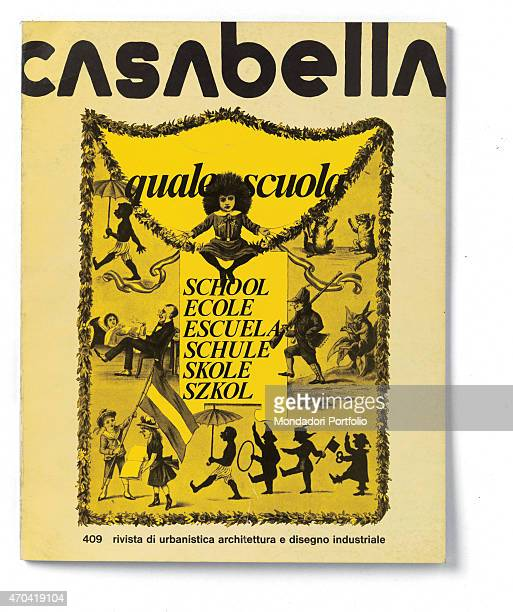 'Cover of Casabella N 409 January 1976 20th Century graphic 31 x 245 cm Italy Lombardy Milan Arnoldo Mondadori Editore Whole artwork view Black...