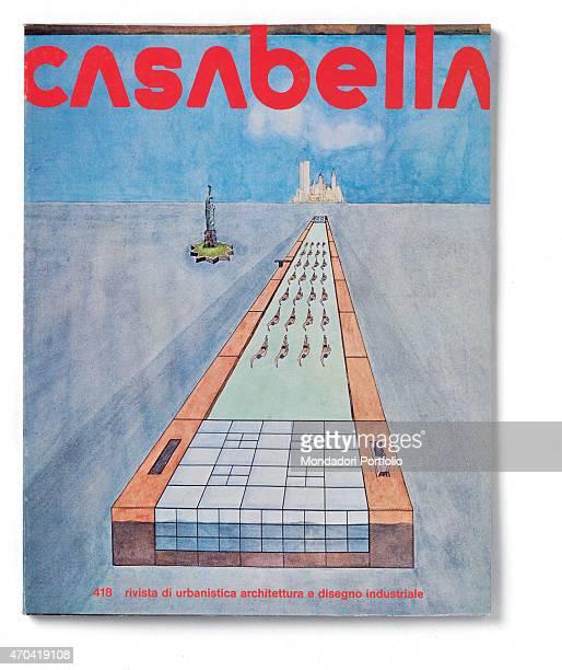 Cover of Casabella N 418 October 1976 20th Century graphic 31 x 245 cm Italy Lombardy Milan Arnoldo Mondadori Editore Whole artwork view Red headline...