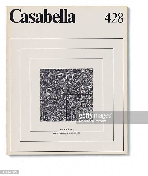 Cover of Casabella N 428 September 1977 20th Century graphic 31 x 245 cm Italy Lombardy Milan Arnoldo Mondadori Editore Whole artwork view Black...