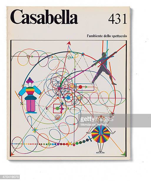 'Cover of Casabella N 431 December 1977 20th Century graphic 31 x 245 cm Italy Lombardy Milan Arnoldo Mondadori Editore Whole artwork view Black...