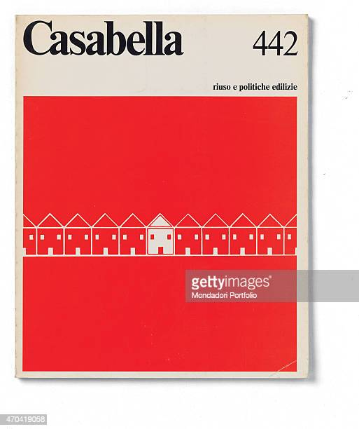 'Cover of Casabella N 442 December 1978 20th Century graphic 31 x 245 cm Italy Lombardy Milan Arnoldo Mondadori Editore Whole artwork view Black...