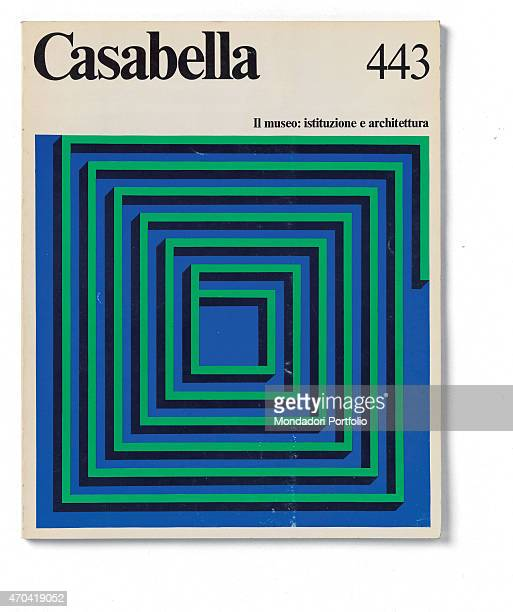 'Cover of Casabella N 443 January 1979 20th Century graphic 31 x 245 cm Italy Lombardy Milan Arnoldo Mondadori Editore Whole artwork view Black...