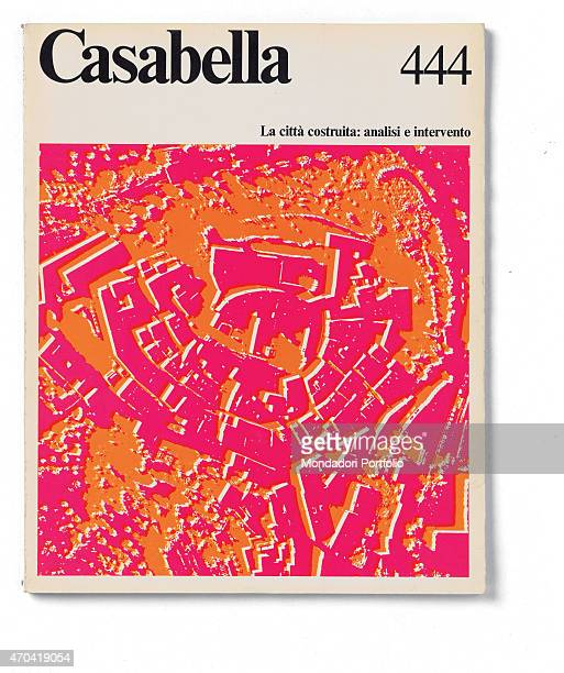 'Cover of Casabella N 444 February 1979 20th Century graphic 31 x 245 cm Italy Lombardy Milan Arnoldo Mondadori Editore Whole artwork view Black...