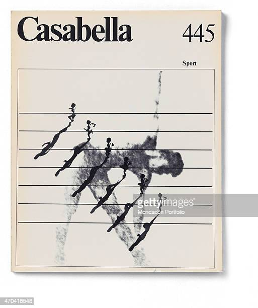 'Cover of Casabella N 445 March 1979 20th Century graphic 31 x 245 cm Italy Lombardy Milan Arnoldo Mondadori Editore Whole artwork view Black...