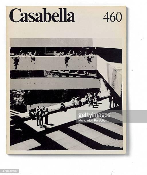 """Cover of Casabella, N. 460, July-August 1980, 20th Century, graphic, 31 x 24,5 cm Italy, Lombardy, Milan, Arnoldo Mondadori Editore. Whole artwork..."