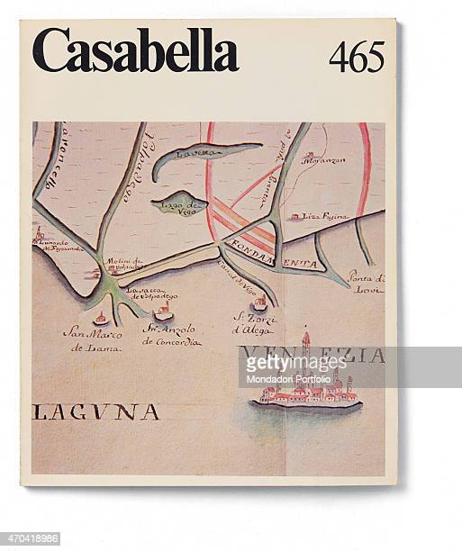 'Cover of Casabella N 465 January 1981 20th Century graphic 31 x 245 cm Italy Lombardy Milan Arnoldo Mondadori Editore Whole artwork view Black...