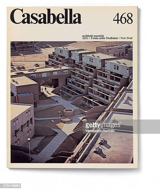 'Cover of Casabella N 468 March 1981 20th Century graphic 31 x 245 cm Italy Lombardy Milan Arnoldo Mondadori Editore Whole artwork view Black...