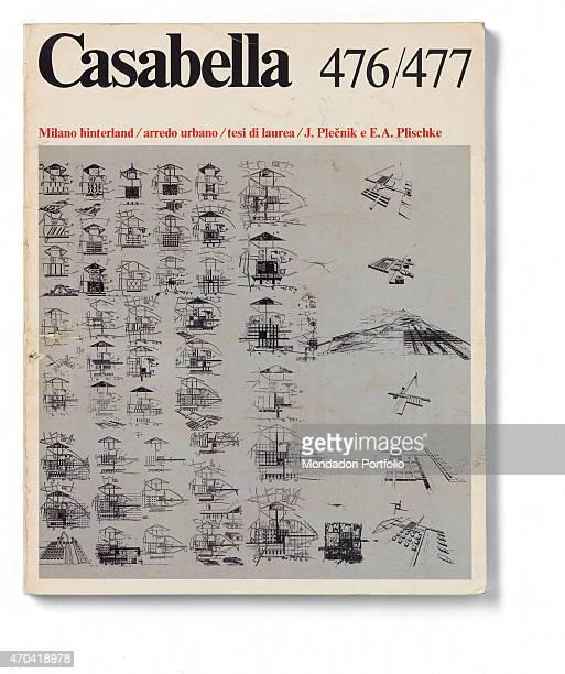 'Cover of Casabella N 476477 JanuaryFebruary 1982 20th Century graphic 31 x 245 cm Italy Lombardy Milan Arnoldo Mondadori Editore Whole artwork view...