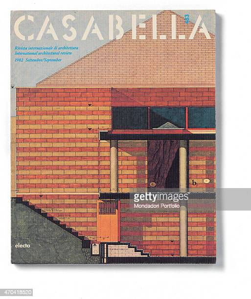 'Cover of Casabella N 483 September 1982 20th Century graphic 31 x 245 cm Italy Lombardy Milan Arnoldo Mondadori Editore Whole artwork view White and...