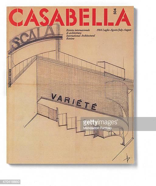 """Cover of Casabella, N. 504, July-August 1984, 20th Century, graphic, 31 x 24,5 cm Italy, Lombardy, Milan, Arnoldo Mondadori Editore. Whole artwork..."