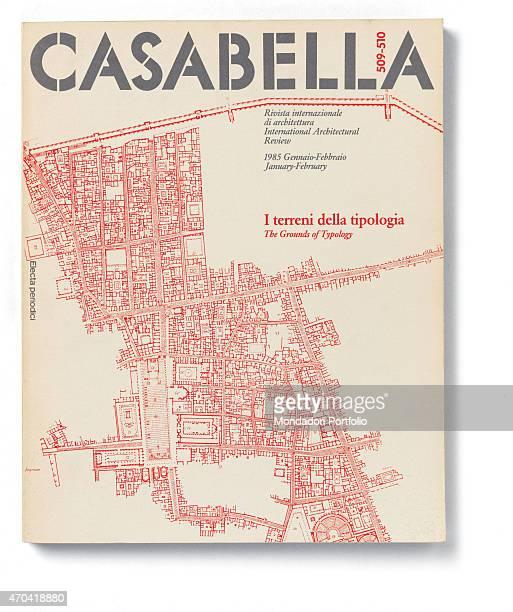 'Cover of Casabella N 509510 JanuaryFebruary 1985 20th Century graphic 31 x 28 cm Italy Lombardy Milan Arnoldo Mondadori Editore Whole artwork view...