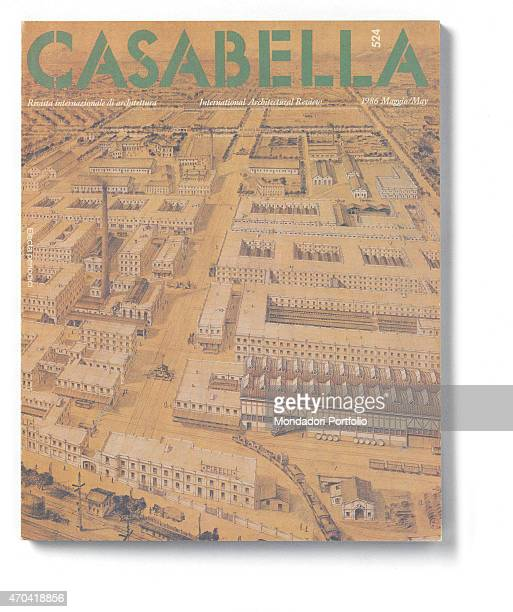 Cover of Casabella N 524 May 1986 20th Century graphic 31 x 28 cm Italy Lombardy Milan Arnoldo Mondadori Editore Whole artwork view Green headline on...