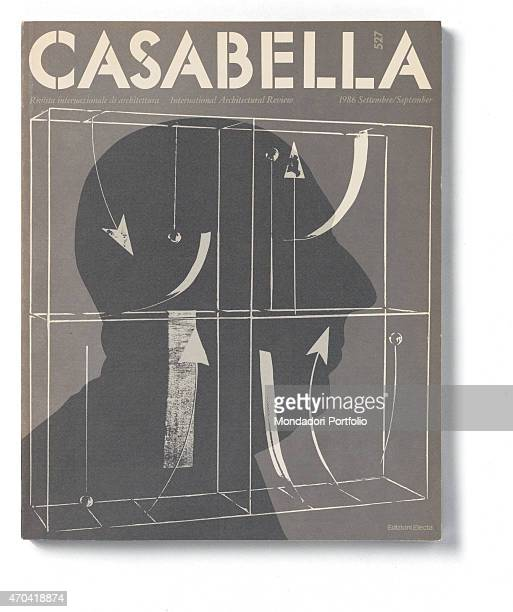 'Cover of Casabella N 527 September 1986 20th Century graphic 31 x 28 cm Italy Lombardy Milan Arnoldo Mondadori Editore Whole artwork view White...
