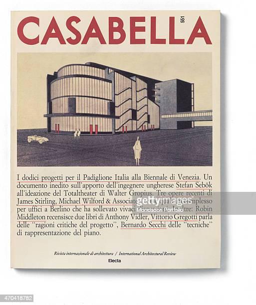 'Cover of Casabella N 551 November 1988 20th Century graphic 31 x 28 cm Italy Lombardy Milan Arnoldo Mondadori Editore Whole artwork view Red...
