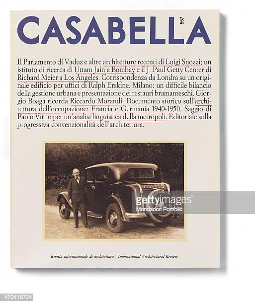 """Cover of Casabella, N. 567, April 1990, 20th Century, graphic, 31 x 28 cm Italy, Lombardy, Milan, Arnoldo Mondadori Editore. Whole artwork view. On..."