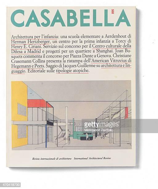 Cover of Casabella N 568 May 1990 20th Century graphic 31 x 28 cm Italy Lombardy Milan Arnoldo Mondadori Editore Whole artwork view On a white...